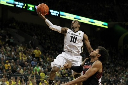 Junior John Loyd has the game of his life in the Ducks victory. Photo credit: Eric Evans