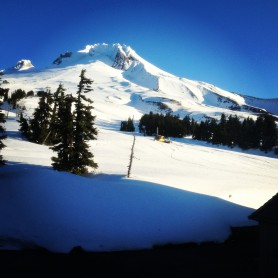Room with a view: the peak of Mt. Hood