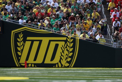 Oregon's WTD inside of Autzen (Tom Hauck)