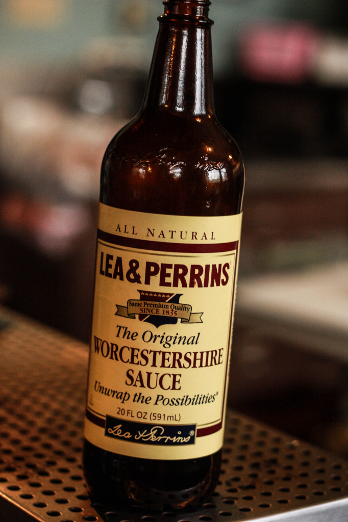 9. Pour in about two tablespoons of Worcestershire sauce, or however much you like. My hubby likes a lot!