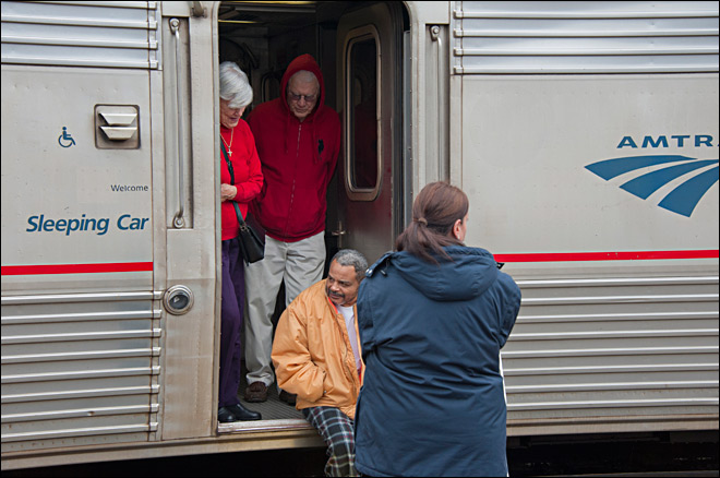 An Amtrak passenger locked himself in a restroom and started a fire in a sleeper car on Friday. Image - KVAL