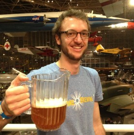 Kevin, from Oakshire, serves up Watershed IPA at Hops and Props in Seattle.