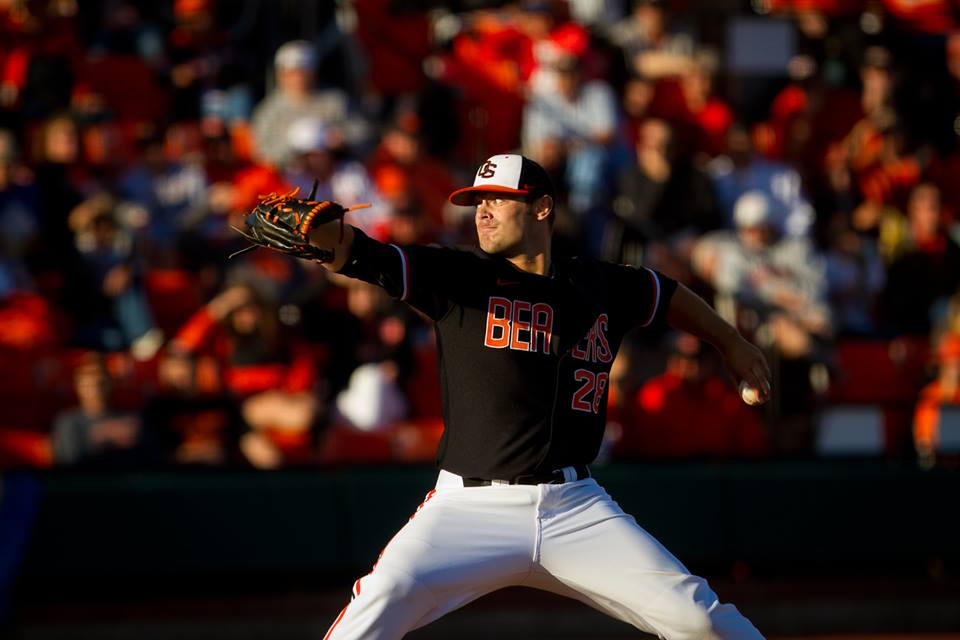 Ben Wetzler was dominant for the Beavers on Sunday. | (Oregon State Baseball/facebook.com)