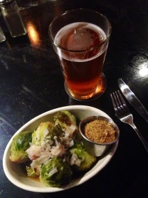 Brussel Sprouts and Barts Best Bitter are a delicious combo.