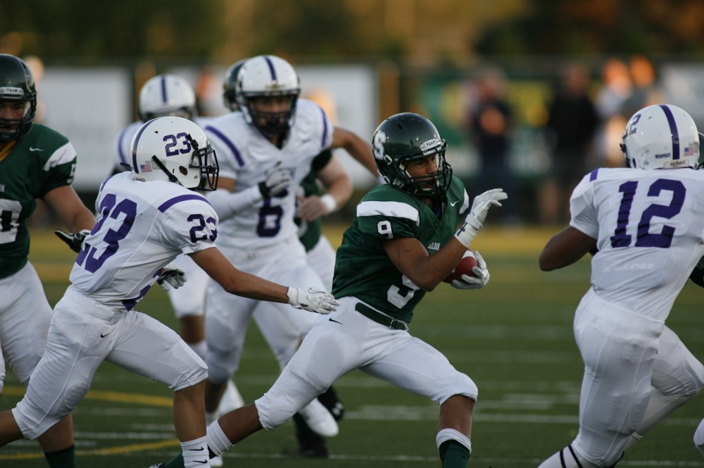 Sheldon's Yadie Dunmore finished with 107 yards rushing and three TDs against Lincoln on Friday.