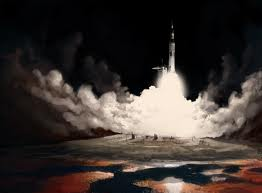 Saturn V Rocket Launch | Image deviantart.com