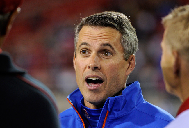 Chris Petersen will be the new coach of the Washington Huskies. (Ethan Miller/Getty Images)