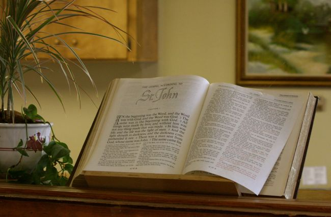 Bible at the Eugene Mission