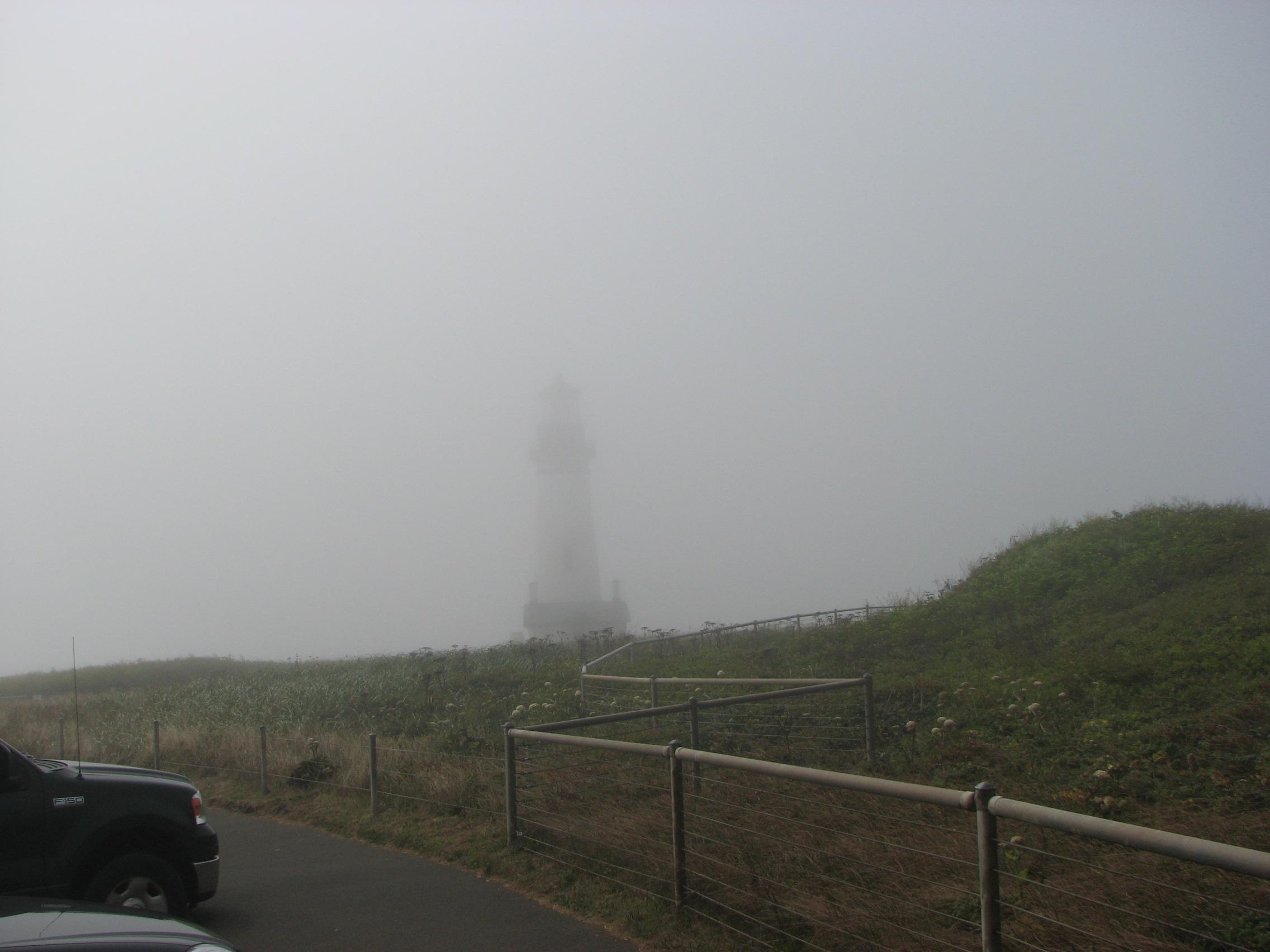 Yaquina Head Lighthouse In Fog | Photo By Tim Chuey