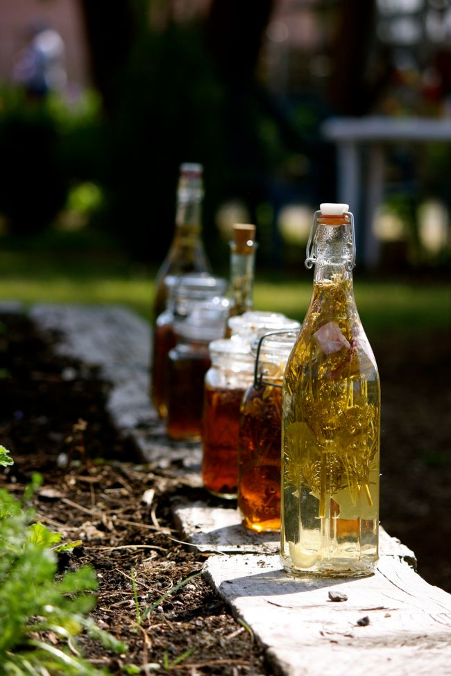 Vinegar steeping in the sunlight at the Eugene Mission
