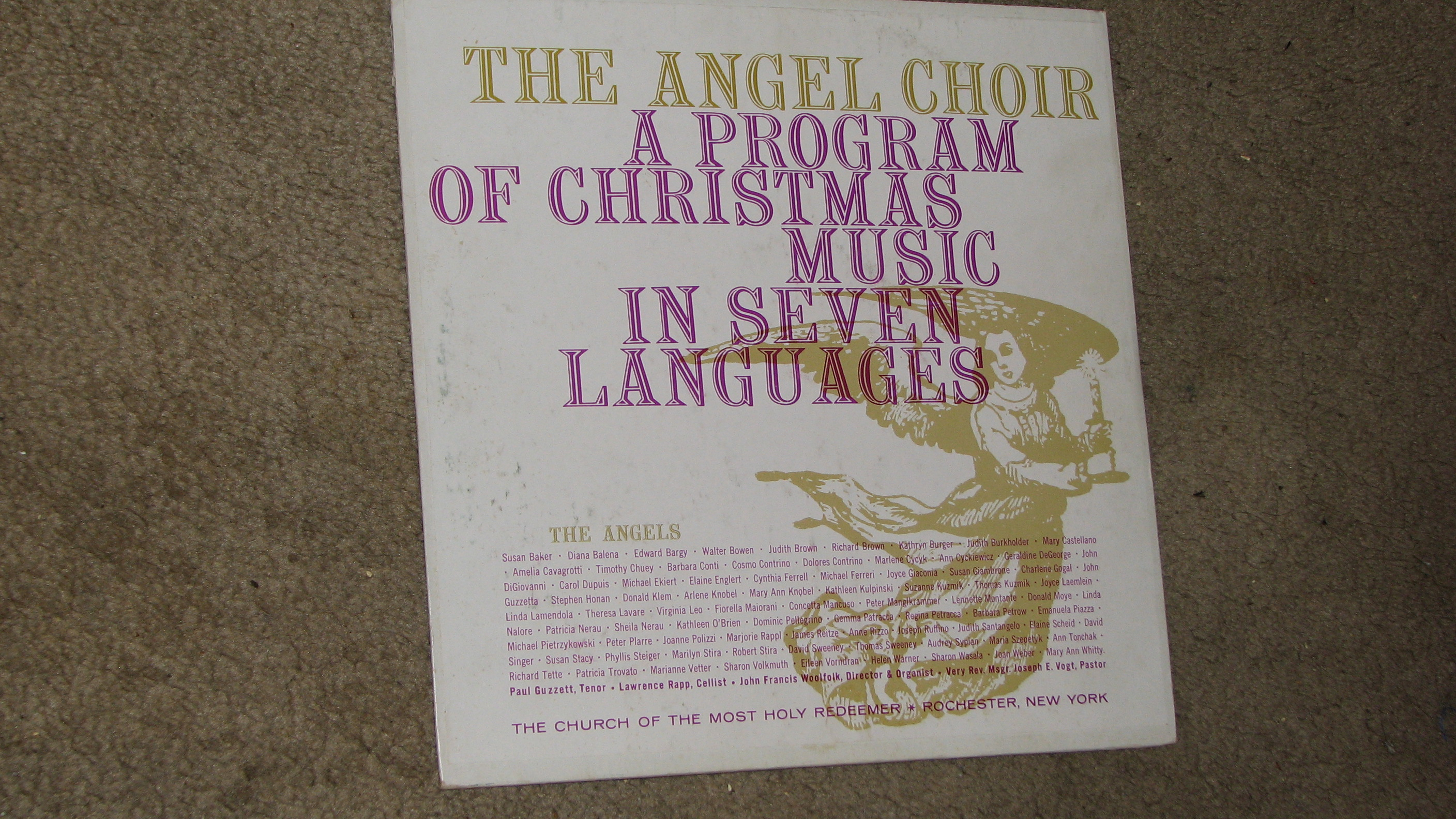 """Album Cover """"The Angel Choir A Program Of Christmas Music In Seven Languages 