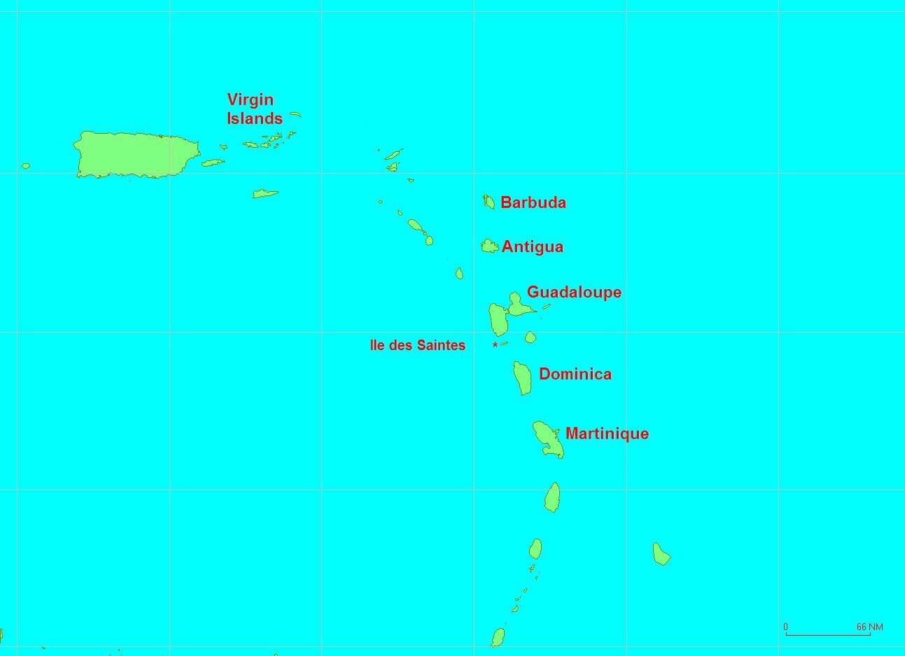 Map Showing The Island of Martinique | www.paticat.com