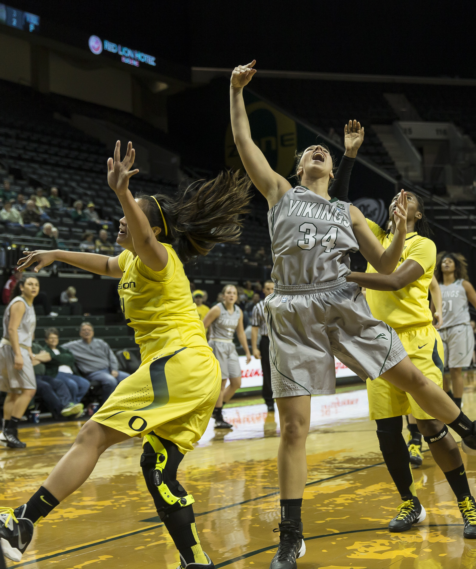 Shot attempt by Allie Brock of Portland State