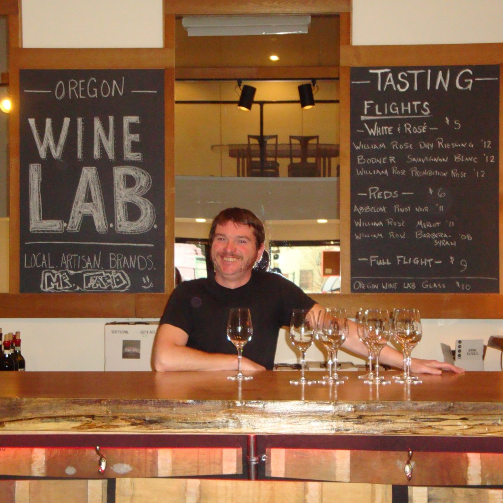 Mark Nicholl of the new Oregon Wine LAB