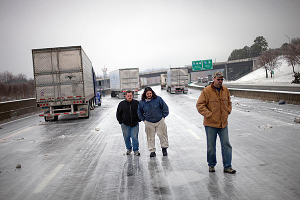 Atlanta Ice Storm Trapped Motorists | Photo by www.csmonitor.com
