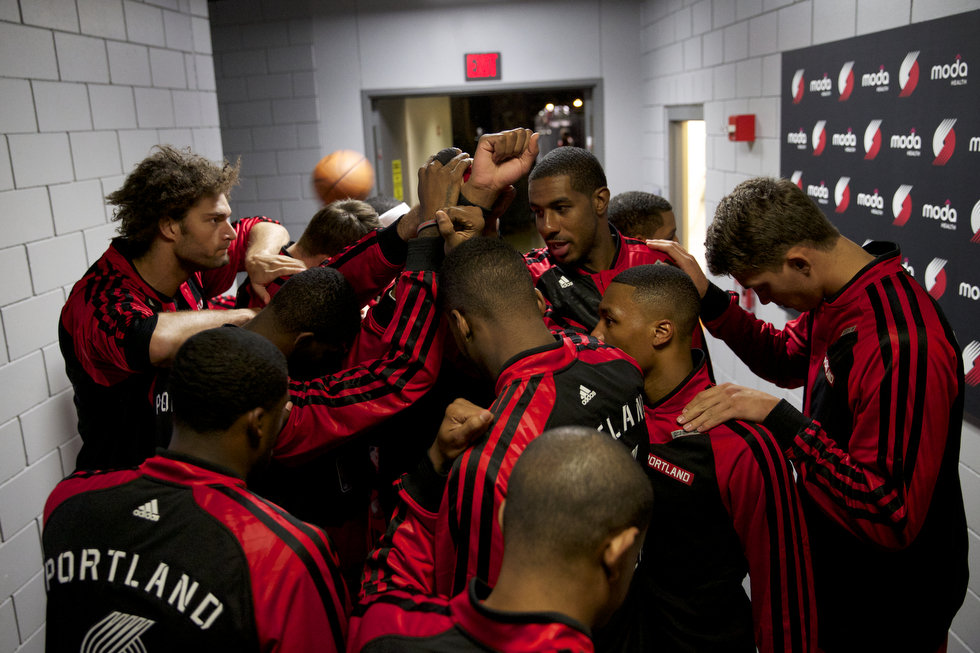 Blazers Team - Bruce Ely : The Oregonian