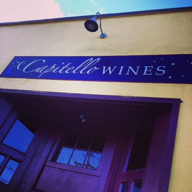 Capitello sign at tasting room