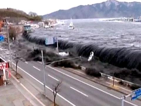 Japan Tsunami Wave 3/11/11