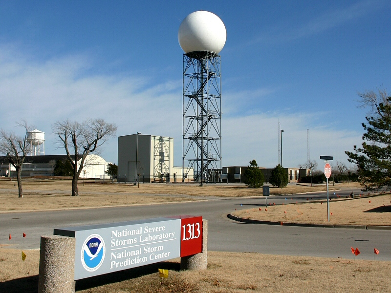 Pulse-Doppler Radar Tower At The National Severe Storms Laboratory | Photo by NSSL