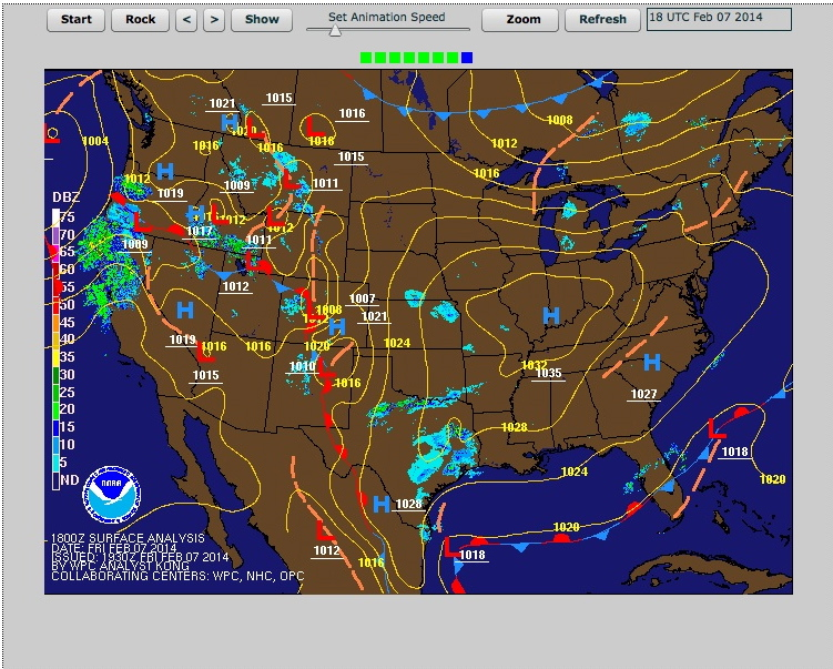 National Weather Service Synoptic Weather Map 11:30 AM Positions | Image National Weather Service