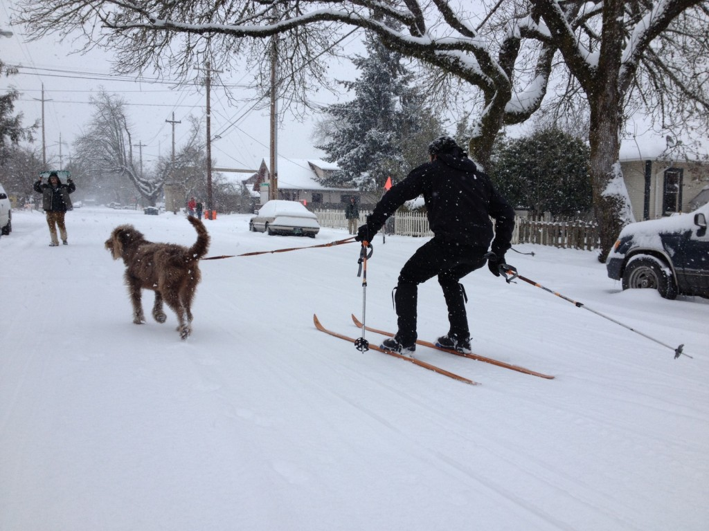 UO Student Conor K Mellon sent us this photo of a little snow day fun in the Whit.  Thanks Connor.  | photo - Connor Mellon