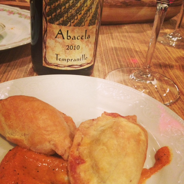 Chef Elizabeth created savory Beef Empanadas, paired with Abacela's '10 Tempranillo