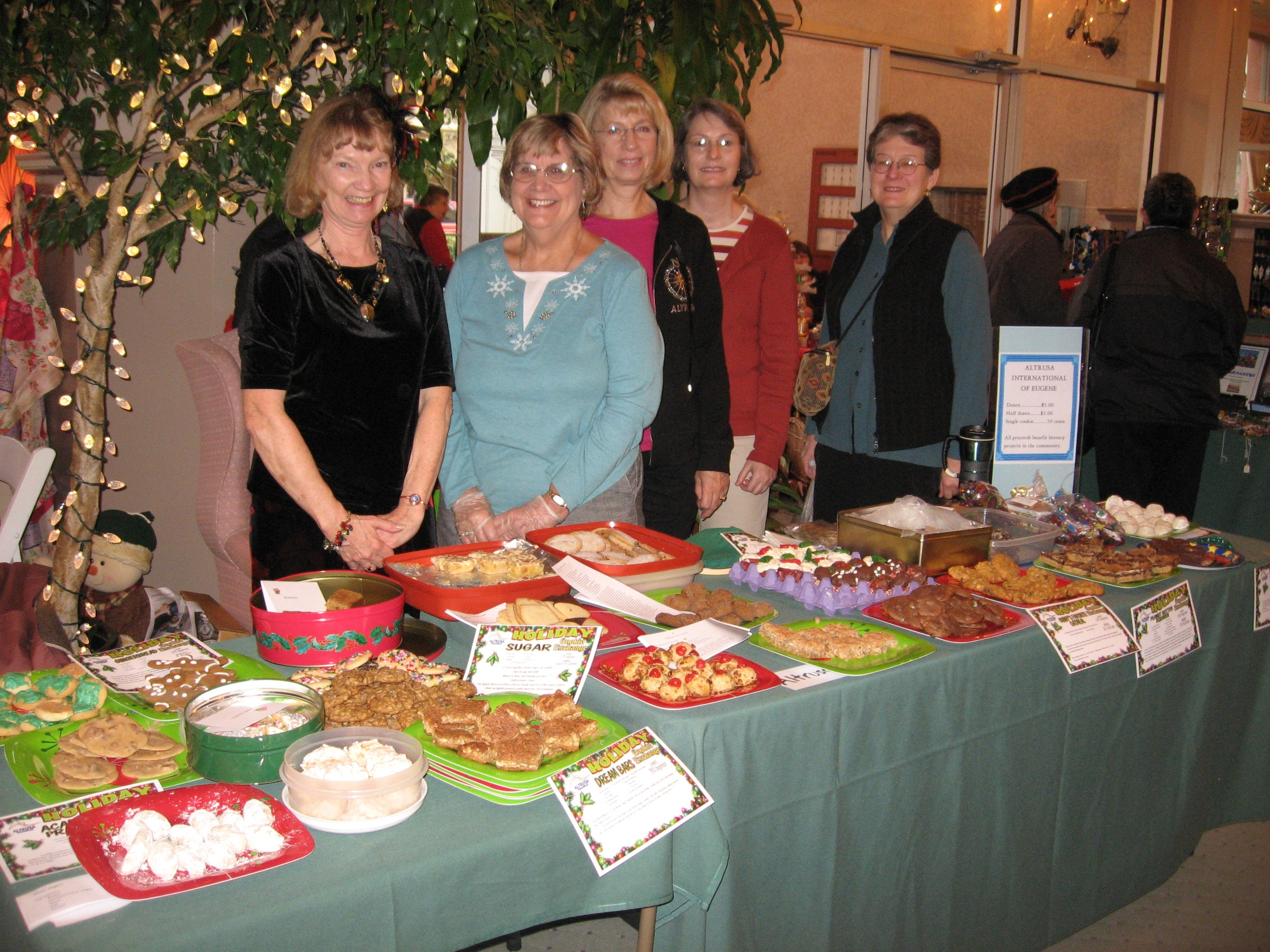 Altrusa of Eugene Bake Sale Fundraiser Books For Affordable Housing Complex | Photo by Eugene Altrusa