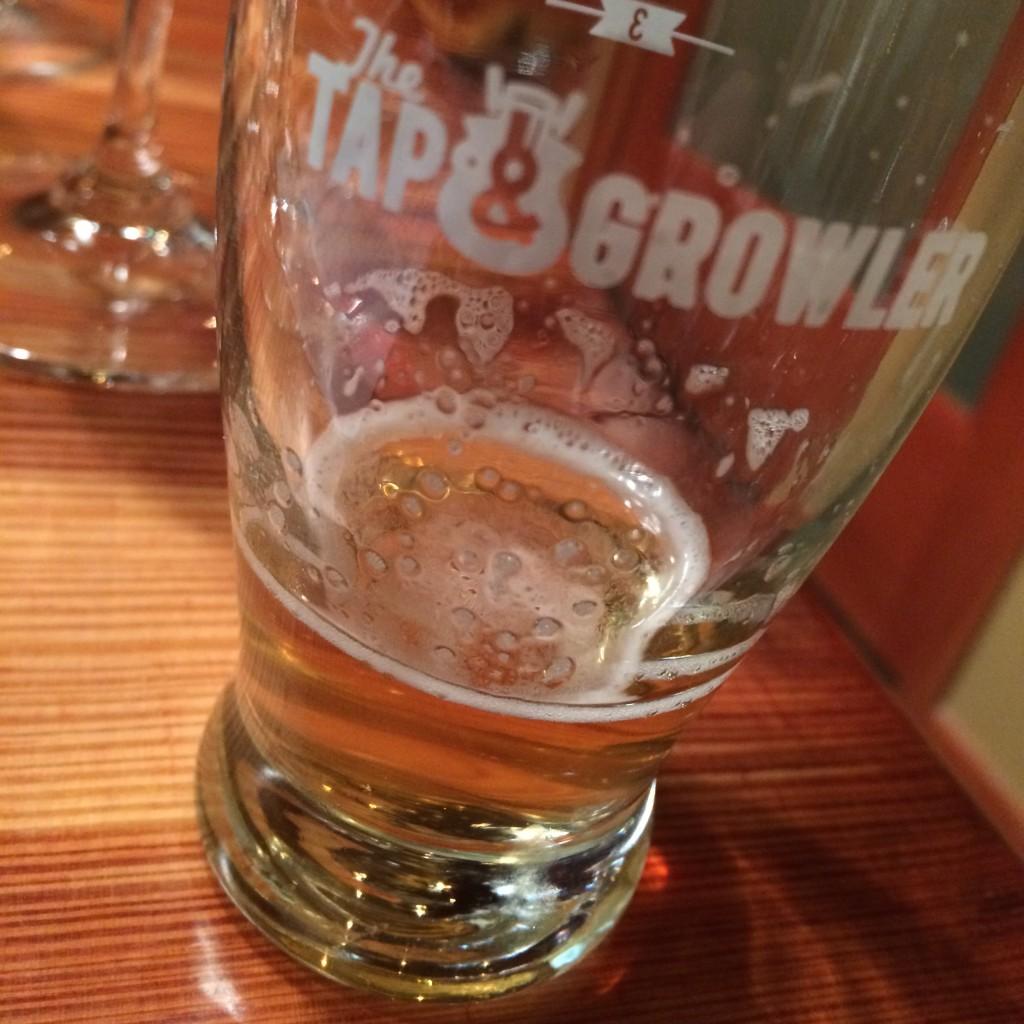A bonus sample of Oakshire's Funk d'Farmhouse - a must-try brew