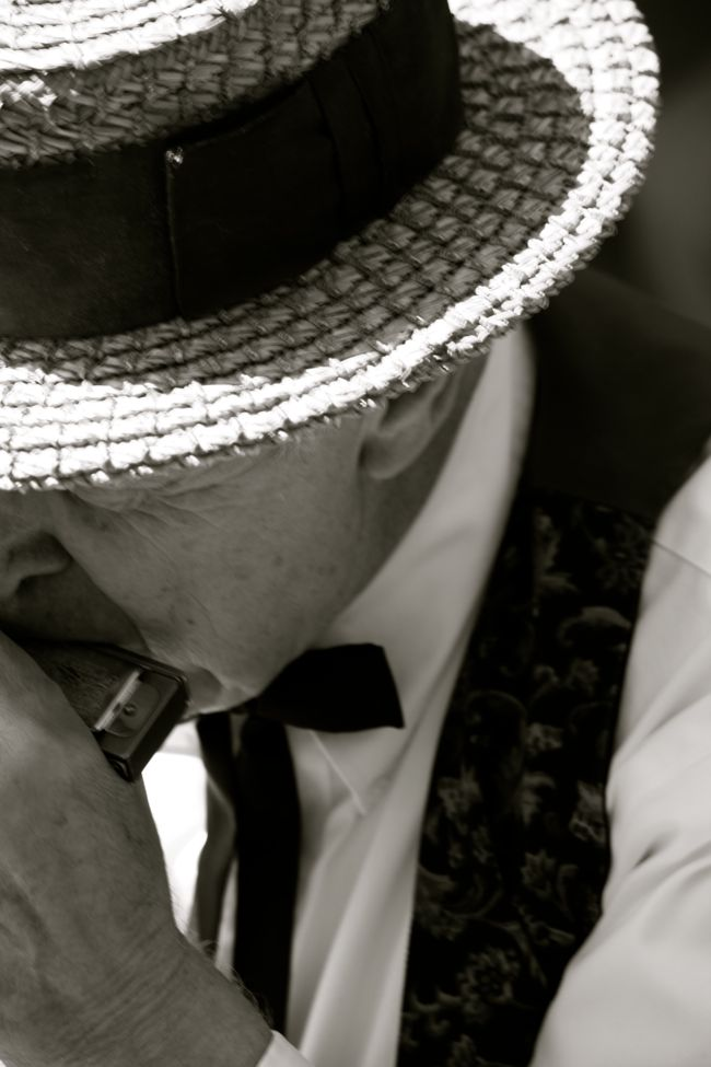 Harmonica Play at the Pioneer Picnic Brownsville Oregon  |  Photo  Sandy Harris