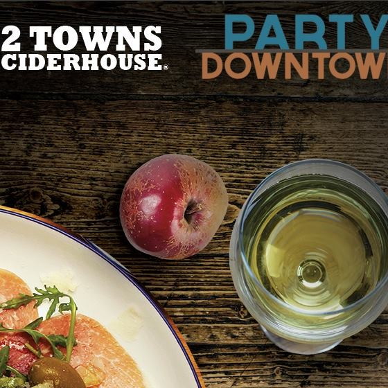 2 towns cider and party downtown