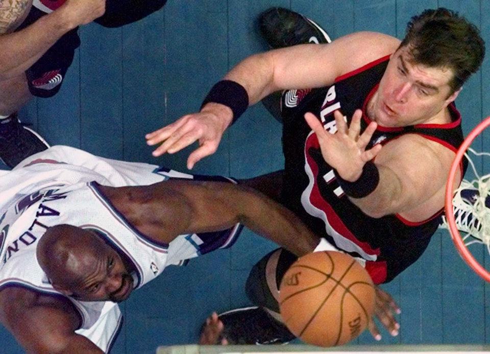Blazers Jazz Playoffs - AP-Kevork Djansezian