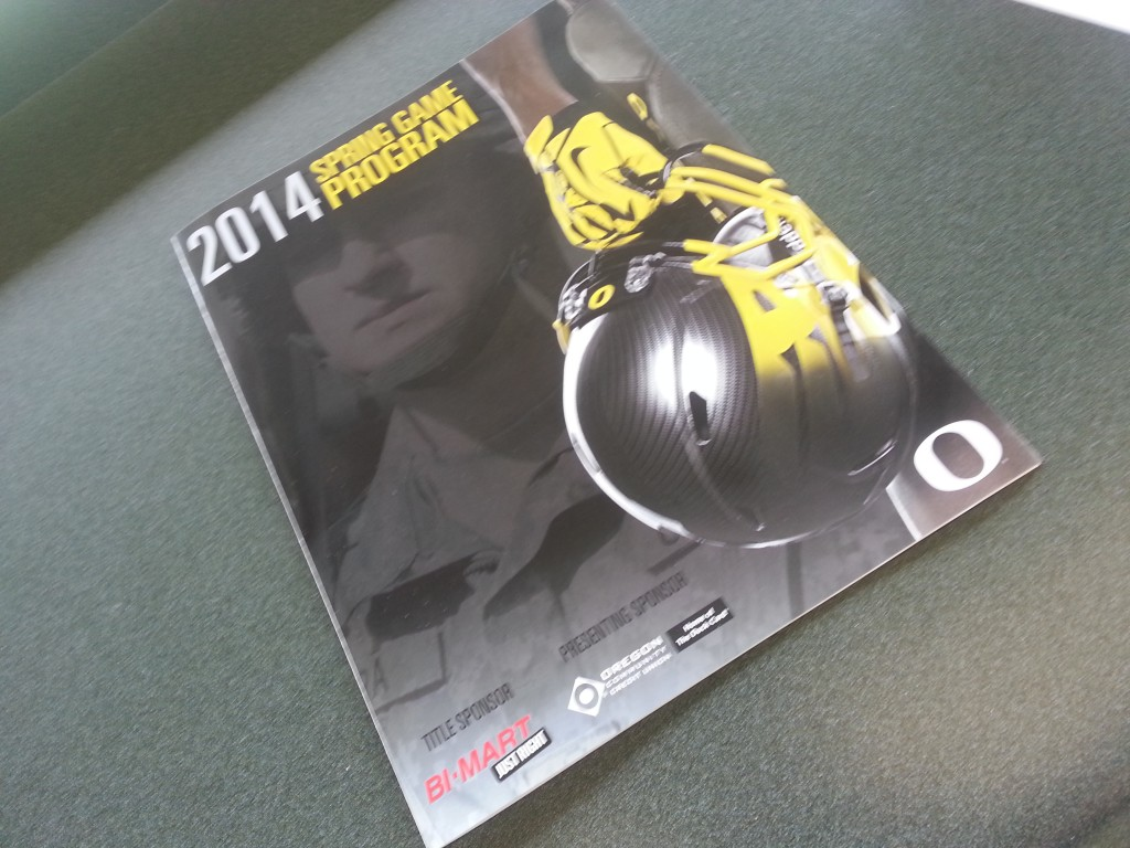 2014 Oregon Spring Game Program  KPNWSports