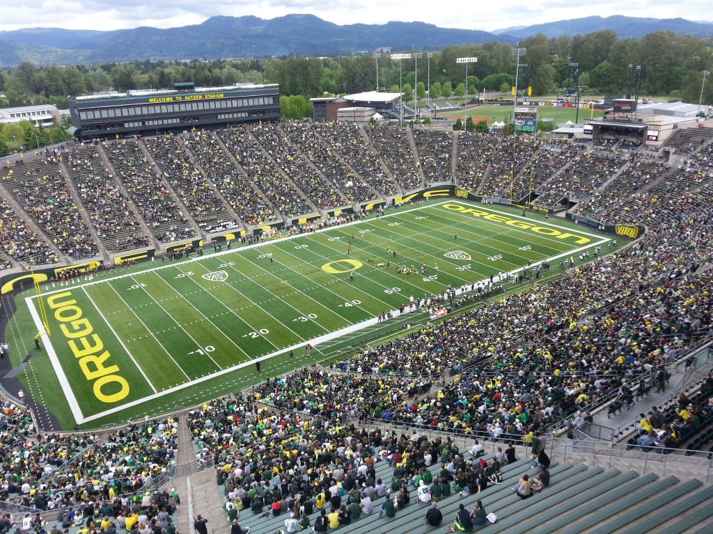 Close to 40,000 spectators attend the Oregon Spring Game. May 3rd, 2014  KPNWSports