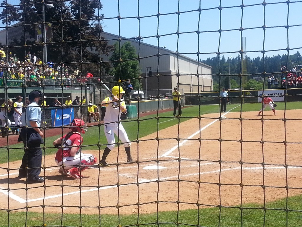 Oregon Softball takes on Wisconsin in the Eugene Regional at Howe Field. May 17th, 2014/KPNWSports