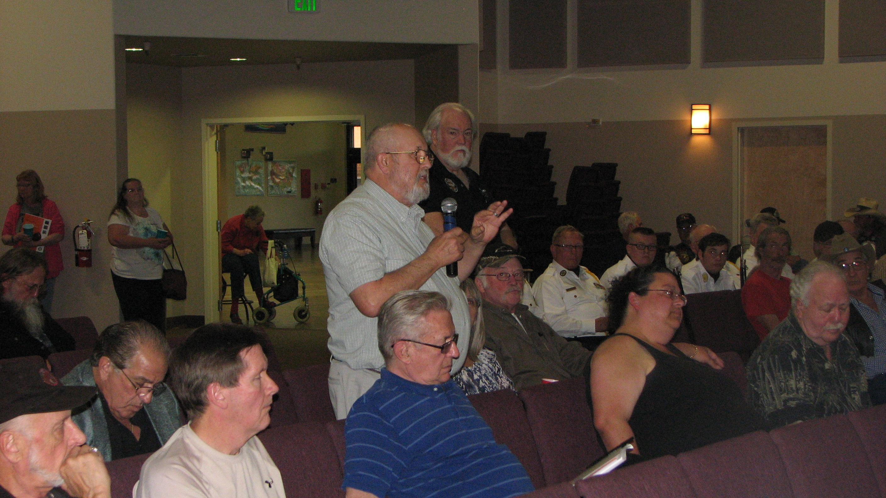 Audience Member Veteran Asks a Question | Photo by Tim Chuey