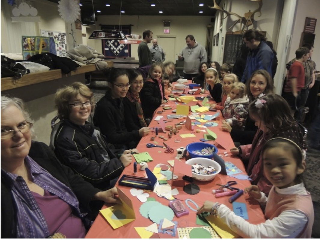 Elks January Freeze - Card Making | Photo by Gary and Janet Stimson