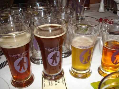 Saquatch brewfest glasses