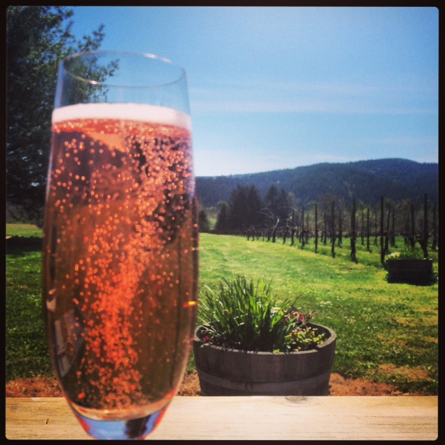 Heading out to wine country? Enjoy bubbles with a view at Domaine Meriwether