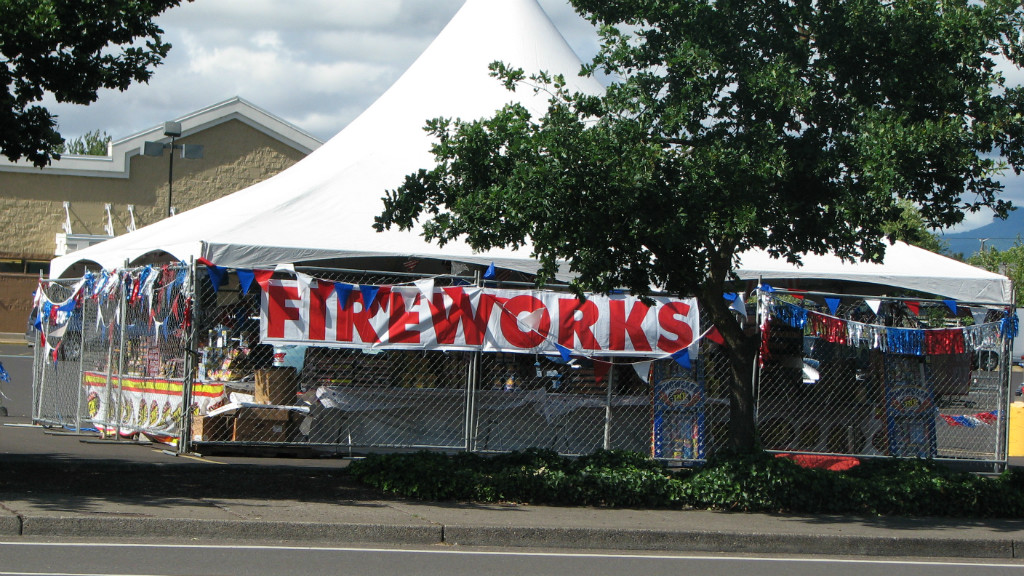 Legal Fireworks Stand 18th & Chambers | Photo by Tim Chuey