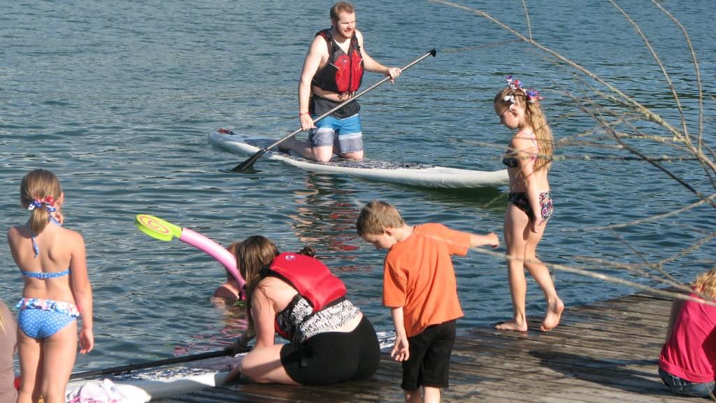 Enjoying Cool Water At Dexter Lake