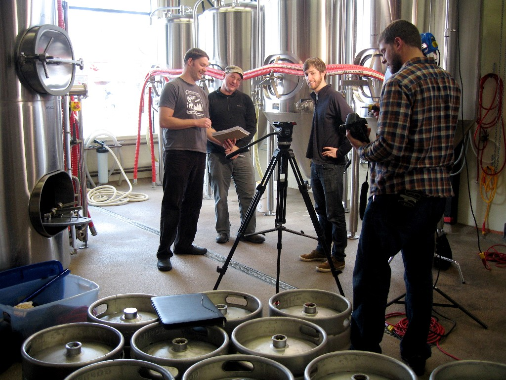 Every Brewery Has a Story. Left to right: Adam Gaylord, Laurence Livingston, Matt Huizenga, and Eric Buist.