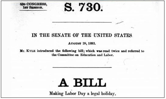 Labor Day Bill   Image by www.dol.gov