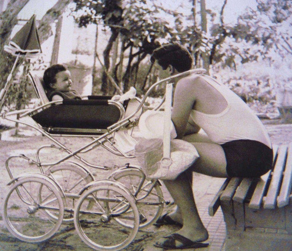 Zio Fabio and I, just chillin'. Miramare di Rimini. summer 1967