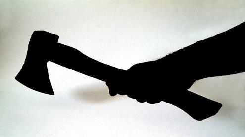 axe in hand