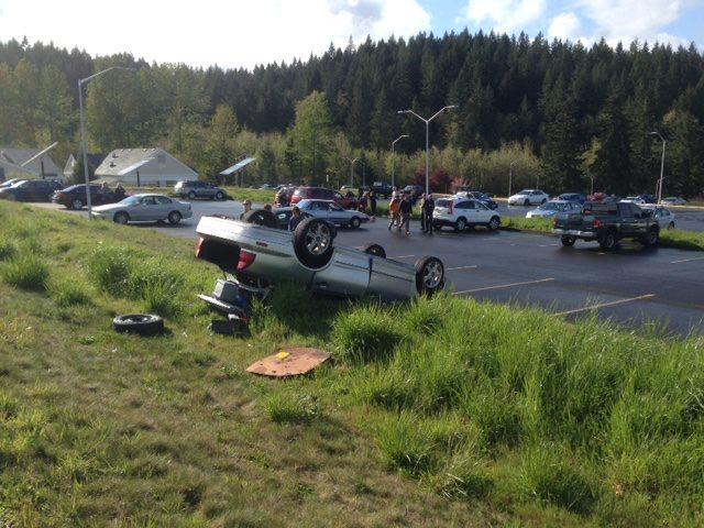 Flipped Car