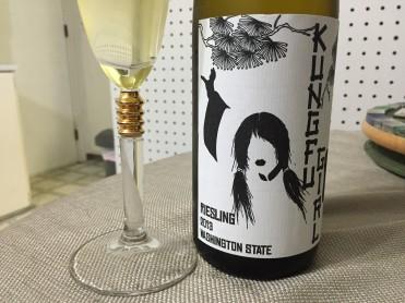 kung fu girl wine bottle