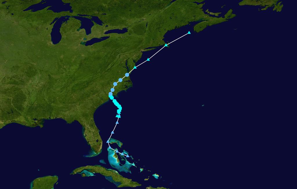 Tropical Storm Ana Path