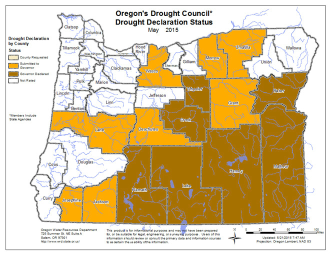 Oregon Drought Rating