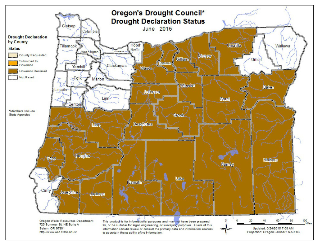 Counties With Drought Declaration | Image by