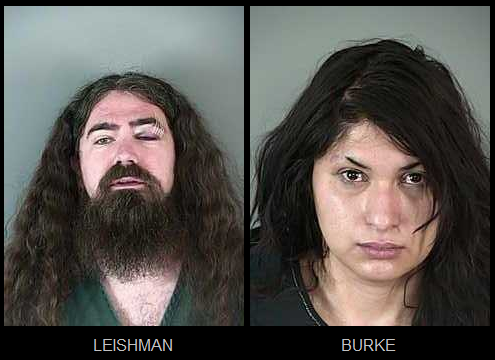 Leishman and Burke mugshots